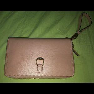 Lauren Ralph Lauren Leather Clutch Wallet  Pink